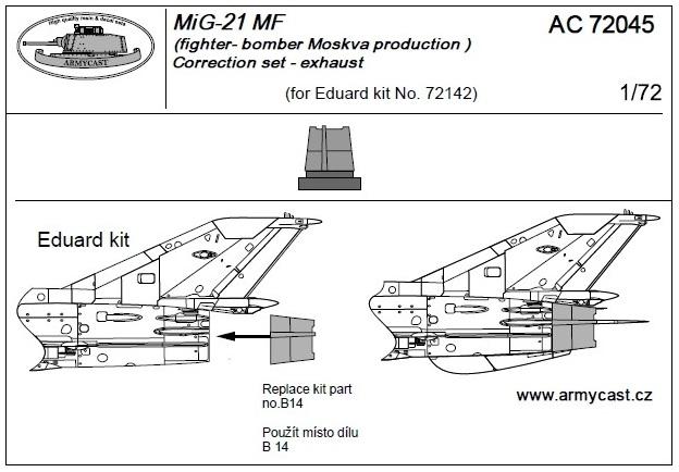 Mig-21 - Sets résine ARMYCAST 1/72 412-th11