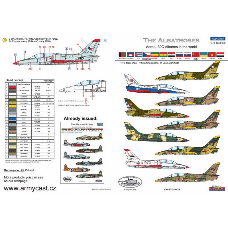 L-39C Albatros in the world - Decals ARMYCAST ACD 72028 / 48011 414-th10