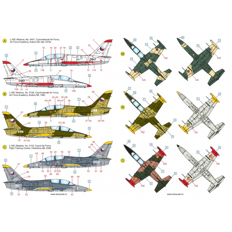 L-39C Albatros in the world - Decals ARMYCAST ACD 72028 / 48011 415-th10