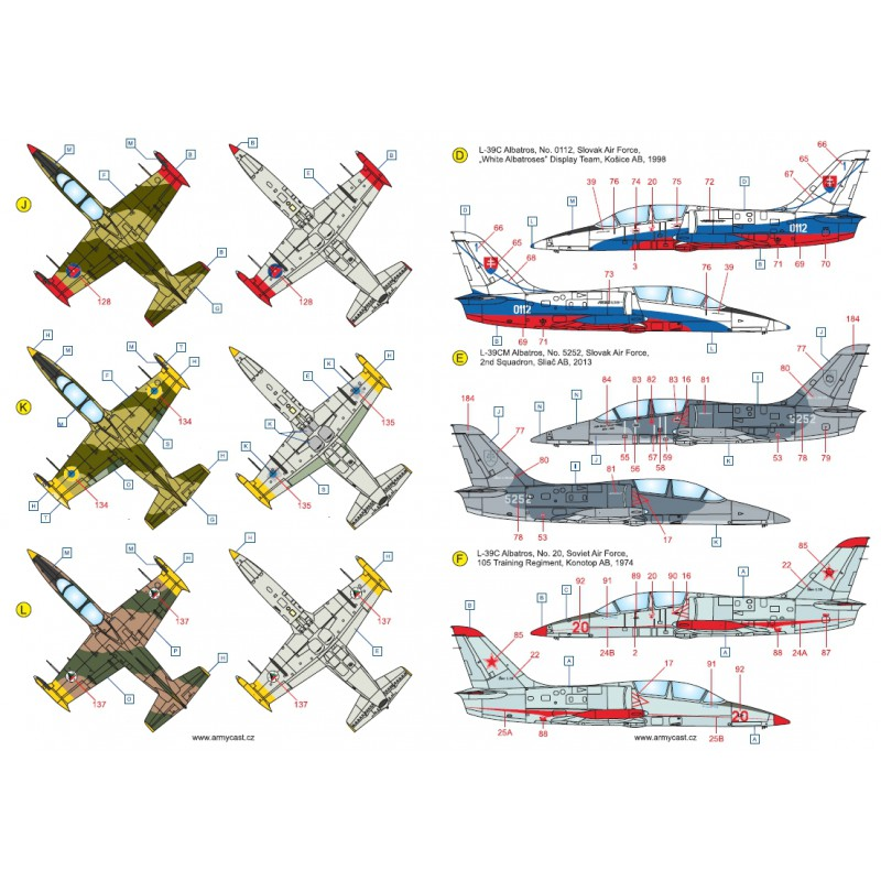 L-39C Albatros in the world - Decals ARMYCAST ACD 72028 / 48011 416-th10