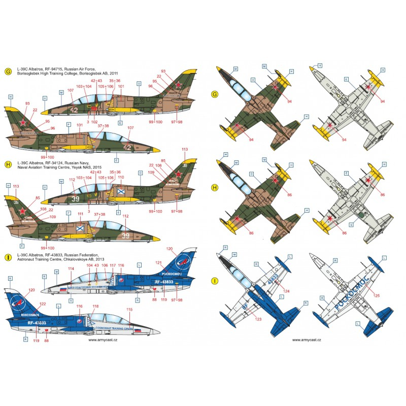 L-39C Albatros in the world - Decals ARMYCAST ACD 72028 / 48011 417-th10