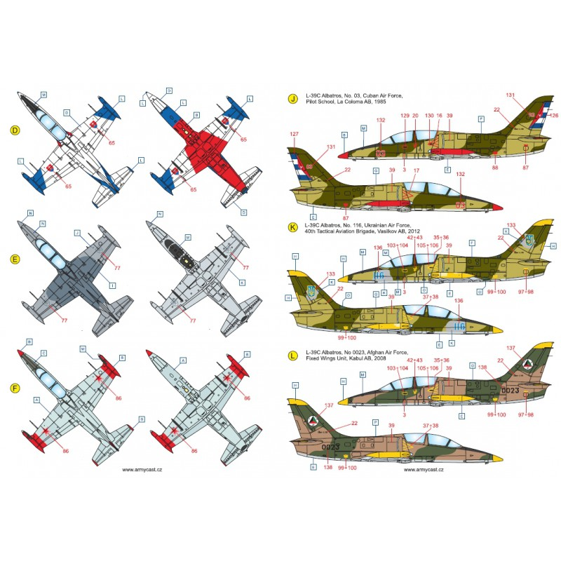 L-39C Albatros in the world - Decals ARMYCAST ACD 72028 / 48011 418-th10