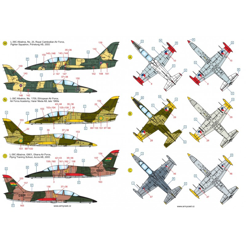 L-39C Albatros in the world - Decals ARMYCAST ACD 72028 / 48011 419-th10