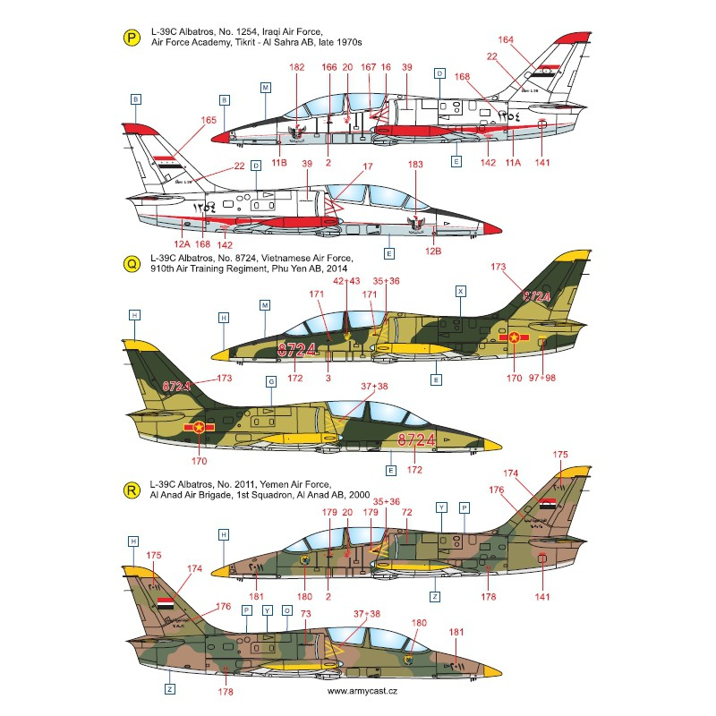 L-39C Albatros in the world - Decals ARMYCAST ACD 72028 / 48011 420-th10