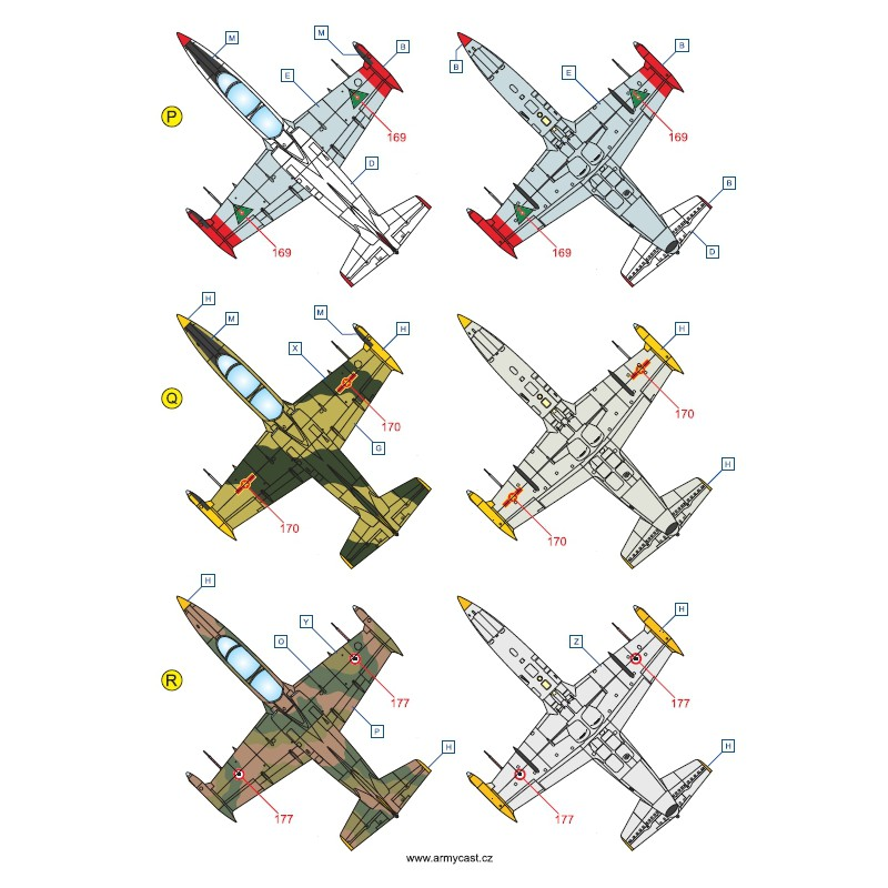 L-39C Albatros in the world - Decals ARMYCAST ACD 72028 / 48011 421-th10