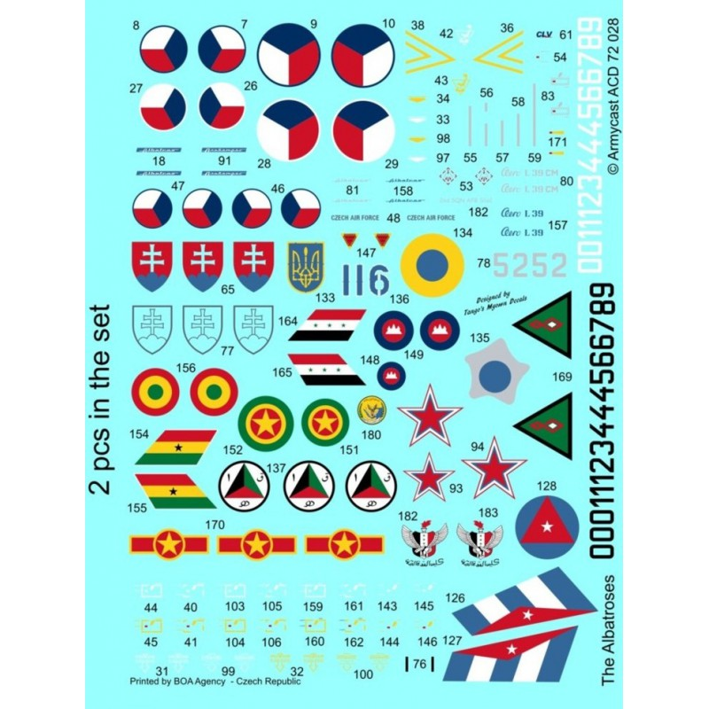 L-39C Albatros in the world - Decals ARMYCAST ACD 72028 / 48011 422-th10