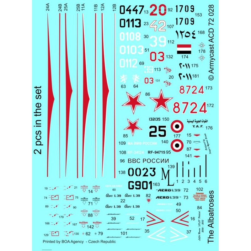 L-39C Albatros in the world - Decals ARMYCAST ACD 72028 / 48011 423-th10