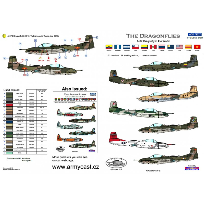 A-37 Dragonfly in the world - Decals ARMYCAST ACD 72027 / 48024 438-th10