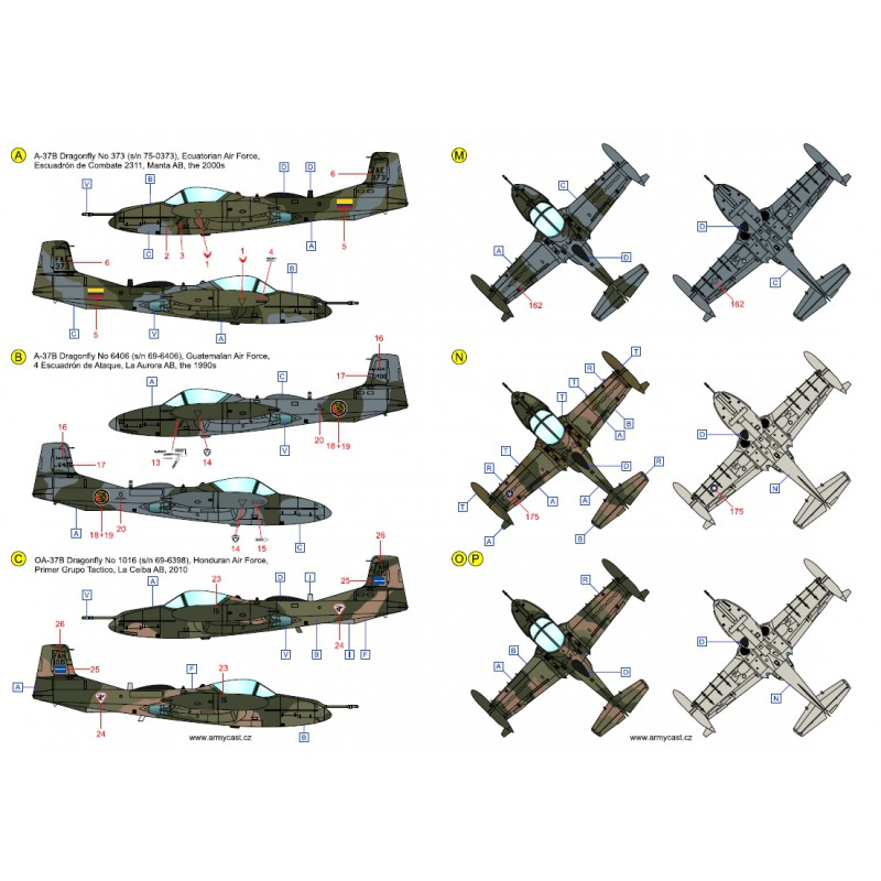 A-37 Dragonfly in the world - Decals ARMYCAST ACD 72027 / 48024 439-th10