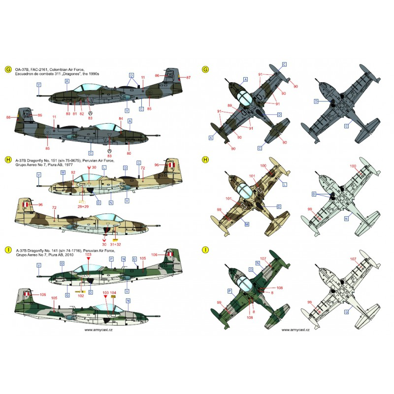 A-37 Dragonfly in the world - Decals ARMYCAST ACD 72027 / 48024 441-th10