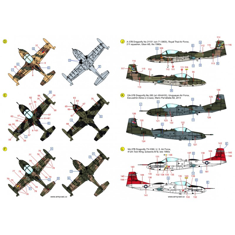 A-37 Dragonfly in the world - Decals ARMYCAST ACD 72027 / 48024 442-th10