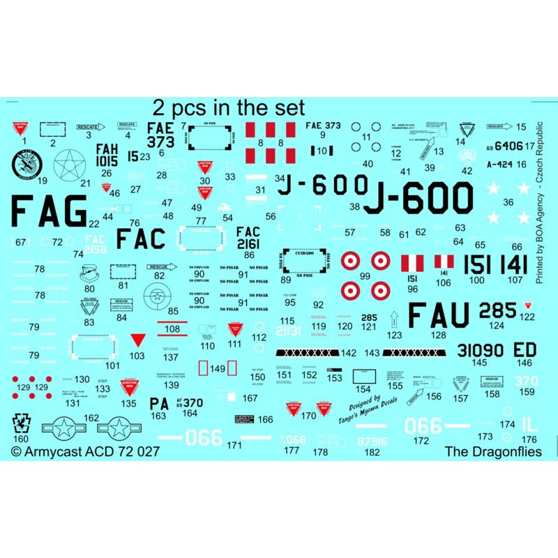 A-37 Dragonfly in the world - Decals ARMYCAST ACD 72027 / 48024 445-th10
