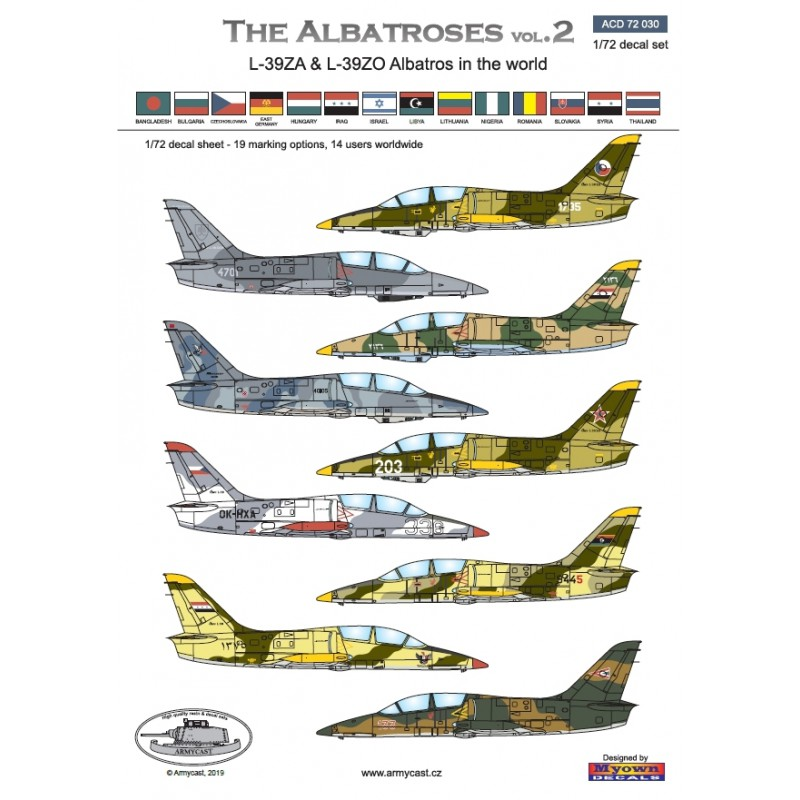 L-39ZA/ZO Albatros in the world - Decals ARMYCAST ACD 72030 / 48012 460-th10