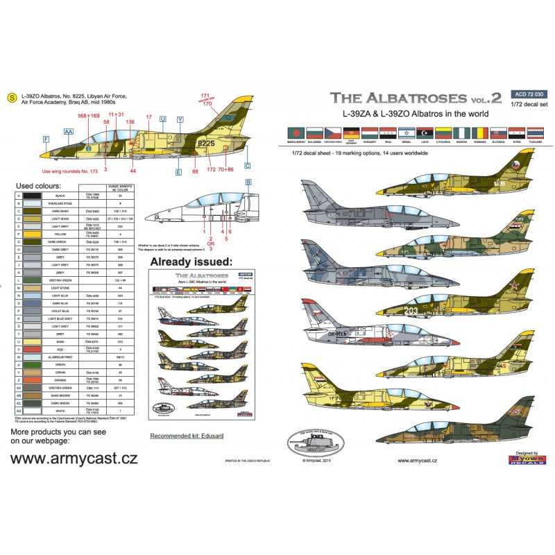 L-39ZA/ZO Albatros in the world - Decals ARMYCAST ACD 72030 / 48012 461-th10