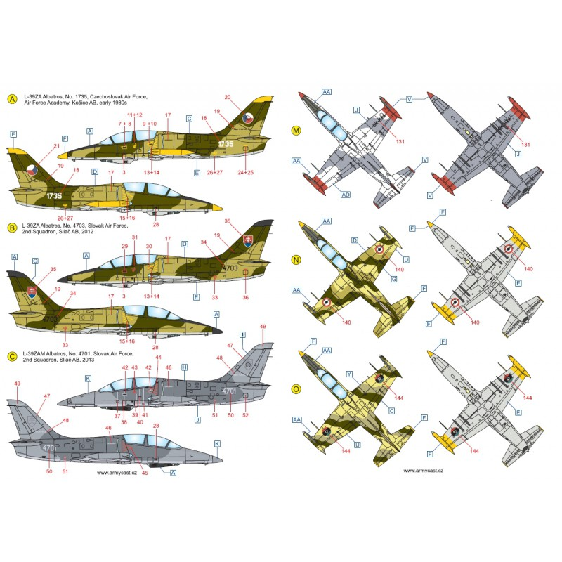 L-39ZA/ZO Albatros in the world - Decals ARMYCAST ACD 72030 / 48012 462-th10
