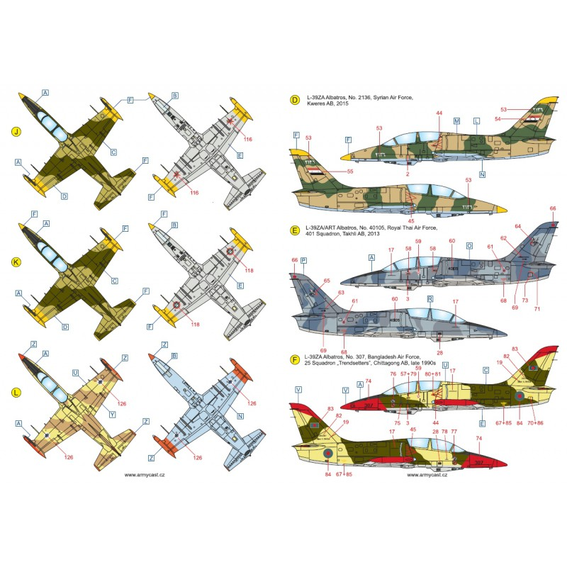 L-39ZA/ZO Albatros in the world - Decals ARMYCAST ACD 72030 / 48012 463-th10