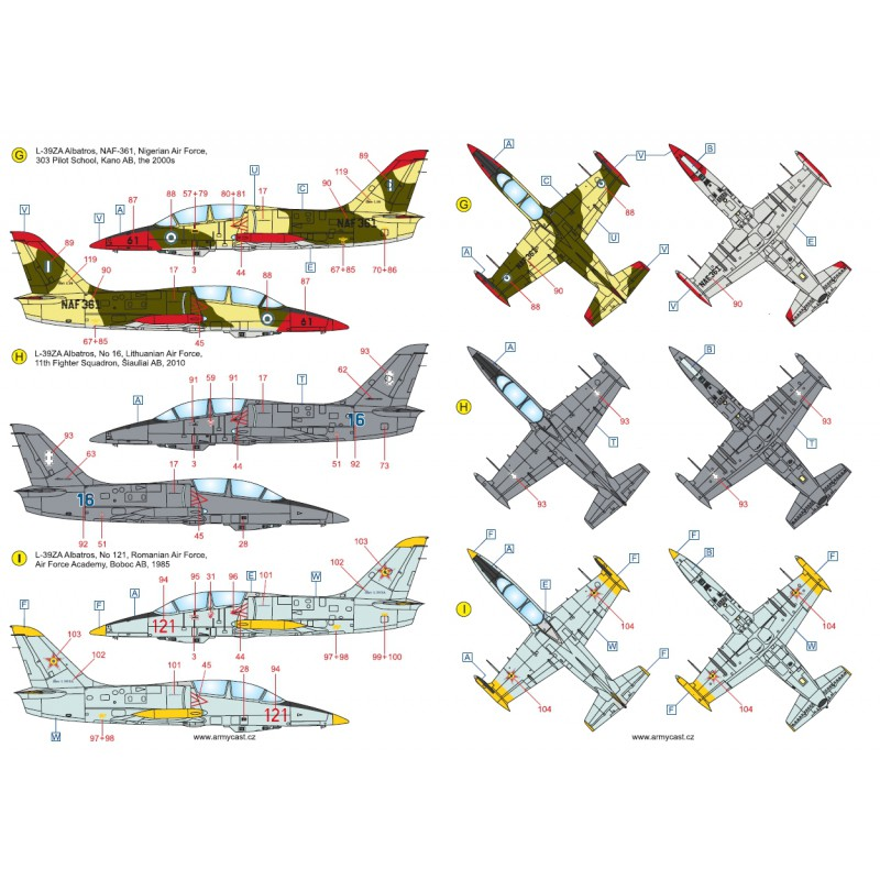 L-39ZA/ZO Albatros in the world - Decals ARMYCAST ACD 72030 / 48012 464-th10