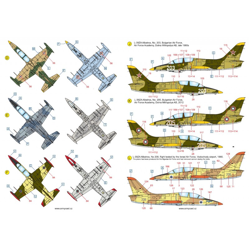 L-39ZA/ZO Albatros in the world - Decals ARMYCAST ACD 72030 / 48012 465-th10