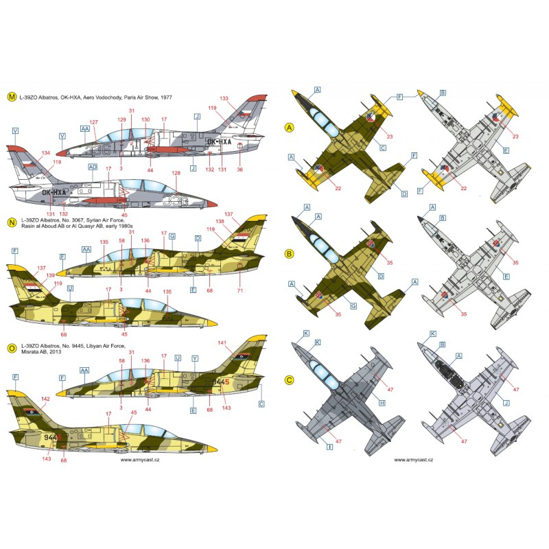 L-39ZA/ZO Albatros in the world - Decals ARMYCAST ACD 72030 / 48012 466-th10