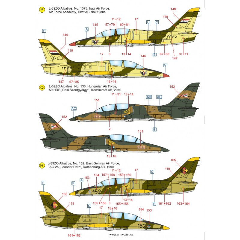 L-39ZA/ZO Albatros in the world - Decals ARMYCAST ACD 72030 / 48012 467-th10