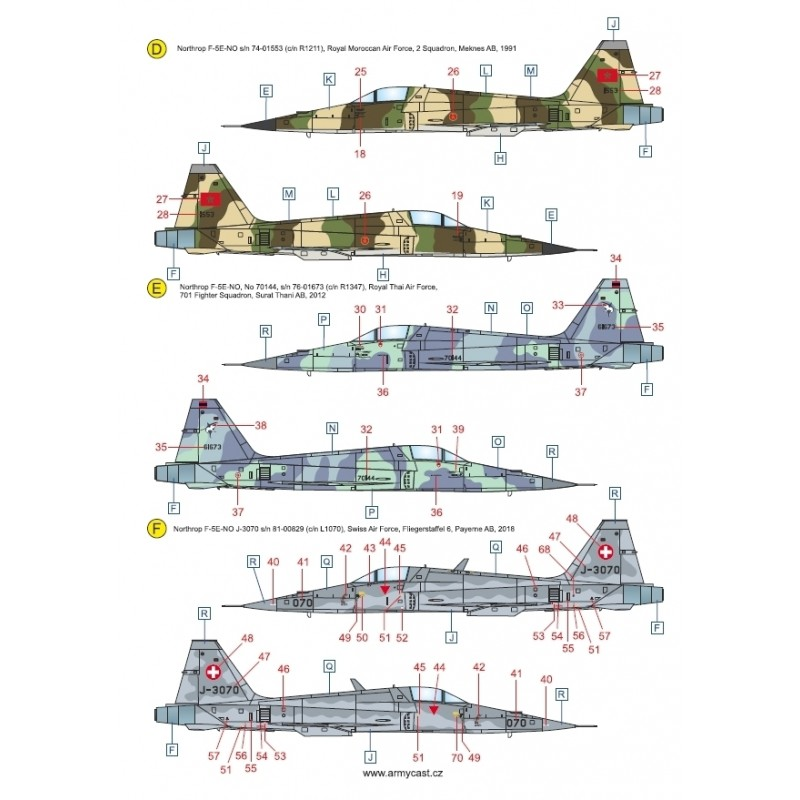 Northrop F-5E's in the world Acd-3222