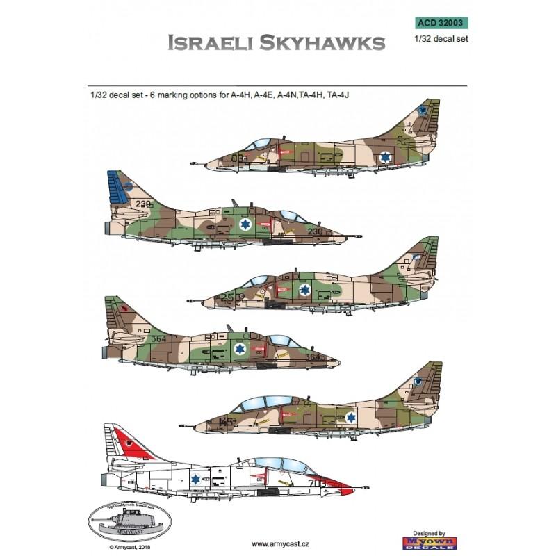 Israeli Skyhawks - décal ARMYCAST ACD 32003 Acd-3224