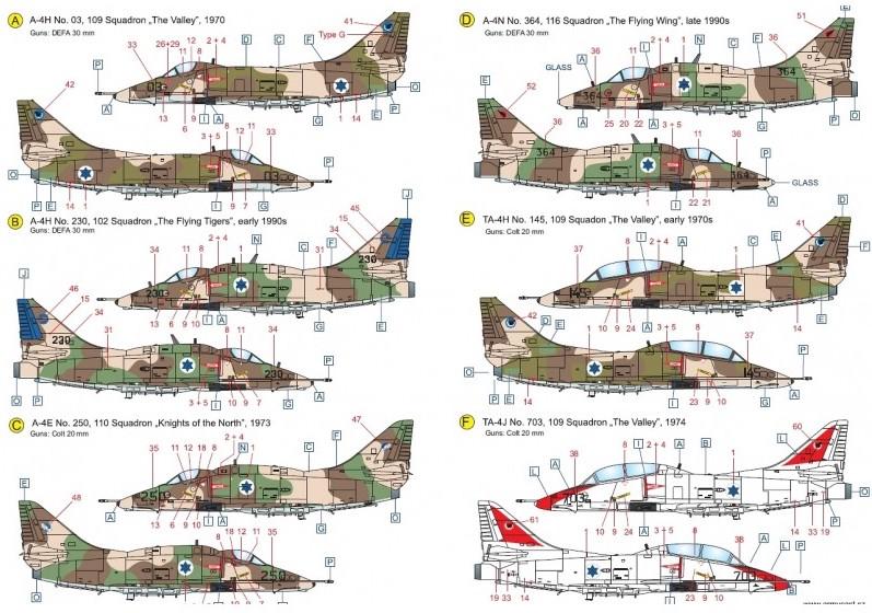 Israeli Skyhawks - décal ARMYCAST ACD 32003 Acd-3225