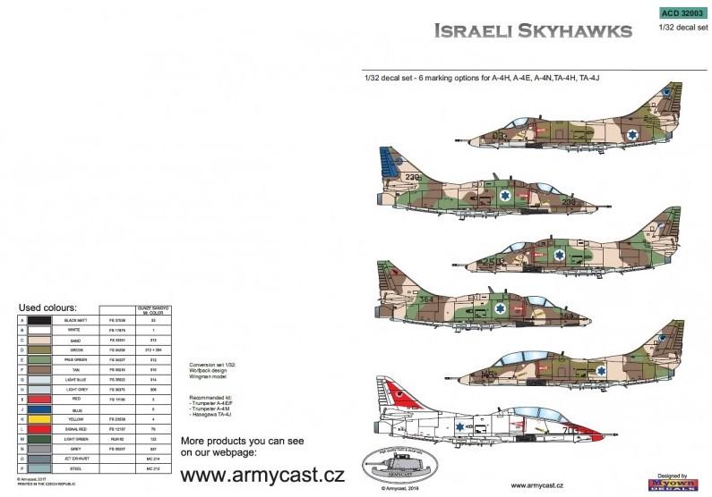 Israeli Skyhawks - décal ARMYCAST ACD 32003 Acd-3227