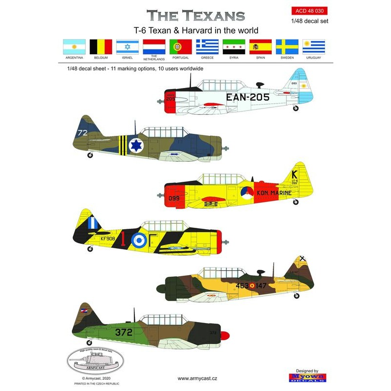 The Texans (T-6 Texan & Harvard in the world) - decal ARMYCAST Acd-4810