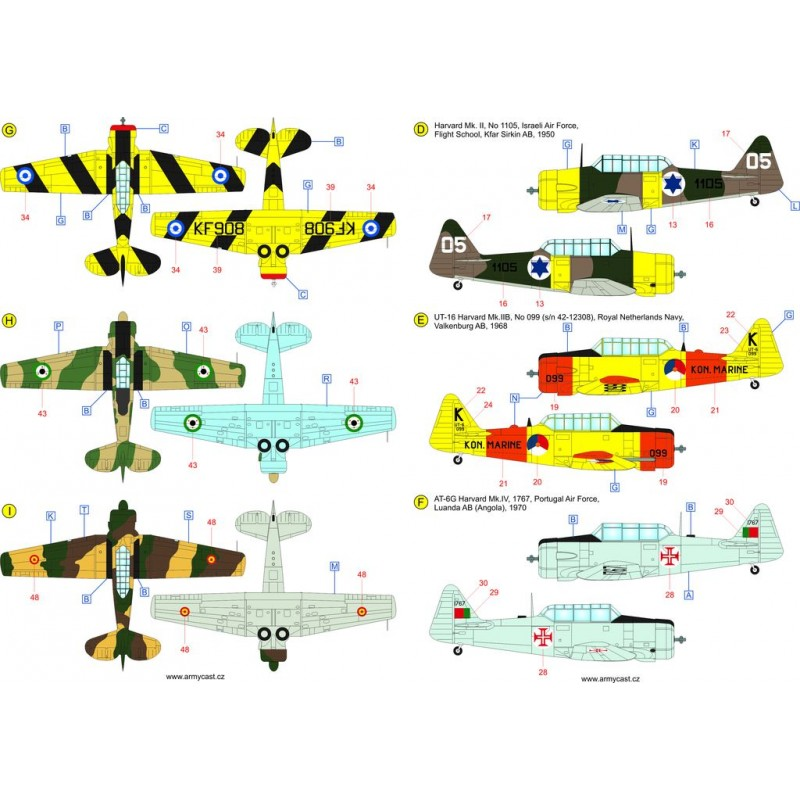 The Texans (T-6 Texan & Harvard in the world) - decal ARMYCAST Acd-4812