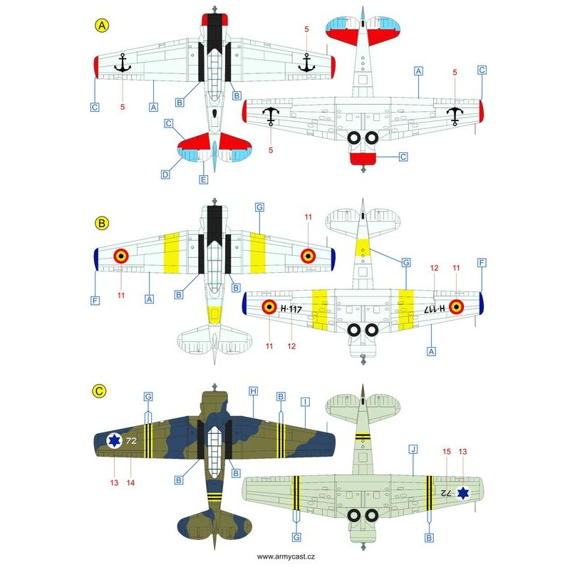 The Texans (T-6 Texan & Harvard in the world) - decal ARMYCAST Acd-4815
