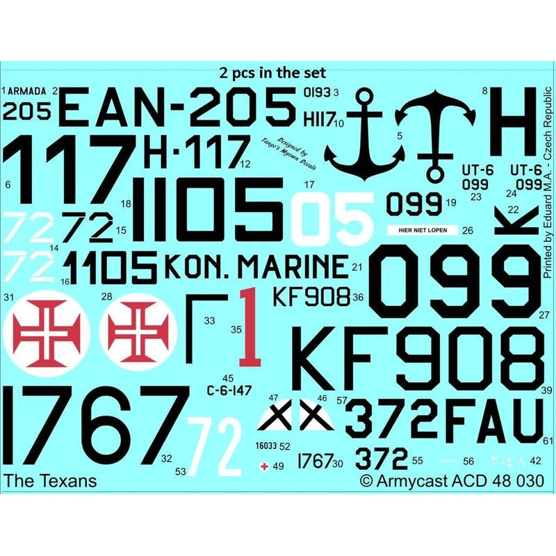 The Texans (T-6 Texan & Harvard in the world) - decal ARMYCAST Acd-4817