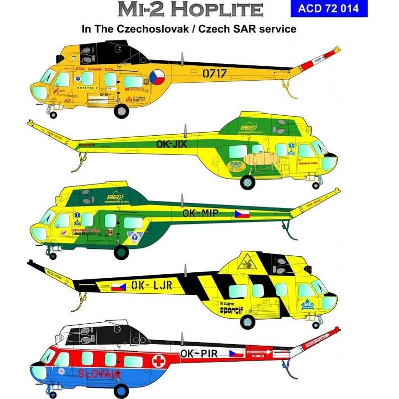 Décal Mi-2 Hoplite in the Czechoslovak / Czech SAR service - ARMYCAST Acd-7210