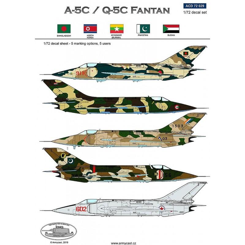 Décals A-5C / Q-5C Fantan - ARMYCAST ACD 72029 Acd-7218