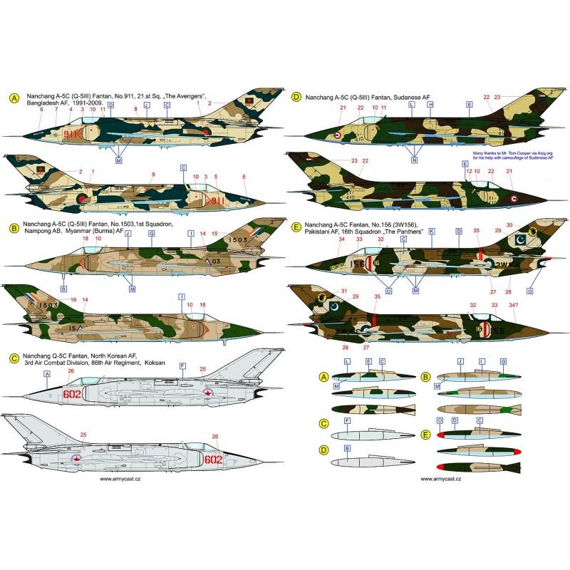 Décals A-5C / Q-5C Fantan - ARMYCAST ACD 72029 Acd-7220