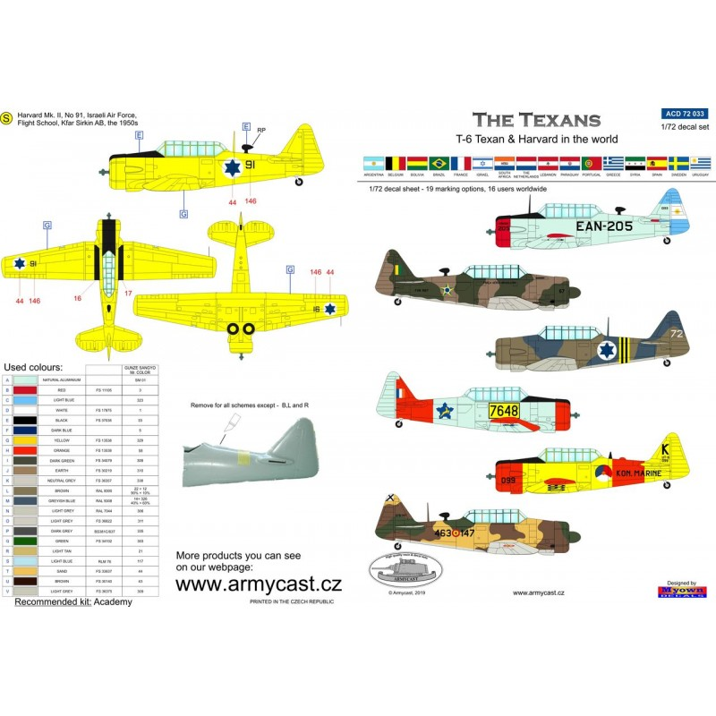 The Texans (T-6 Texan & Harvard in the world) - decal ARMYCAST ACD 72033 Acd-7238