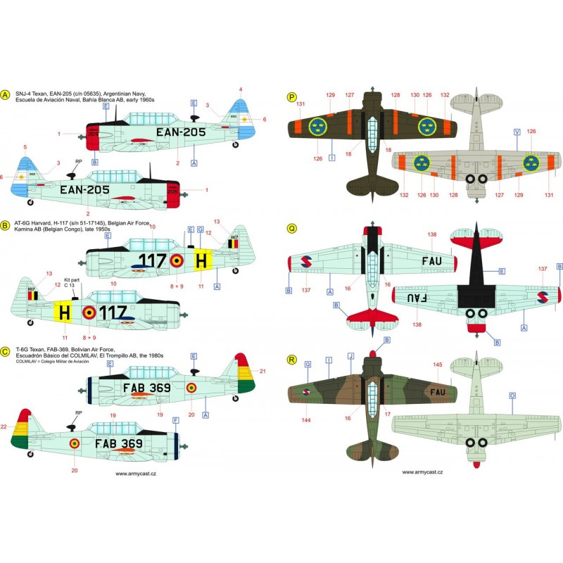 The Texans (T-6 Texan & Harvard in the world) - decal ARMYCAST ACD 72033 Acd-7239