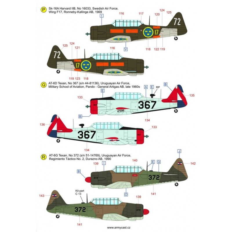 The Texans (T-6 Texan & Harvard in the world) - decal ARMYCAST ACD 72033 Acd-7244