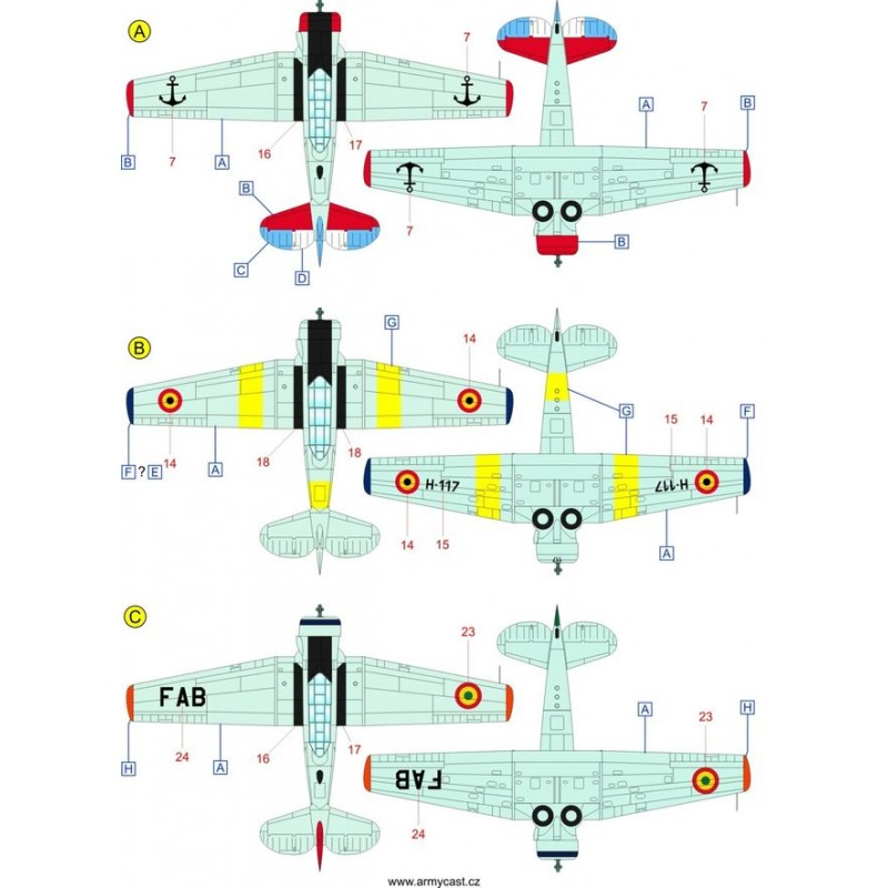 The Texans (T-6 Texan & Harvard in the world) - decal ARMYCAST ACD 72033 Acd-7245