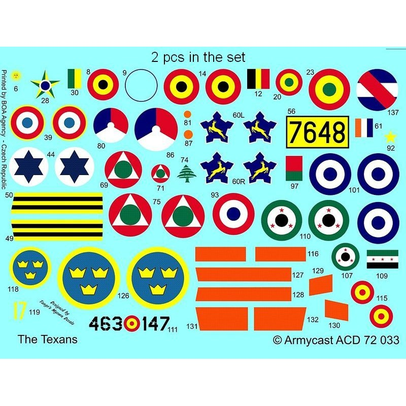 The Texans (T-6 Texan & Harvard in the world) - decal ARMYCAST ACD 72033 Acd-7246