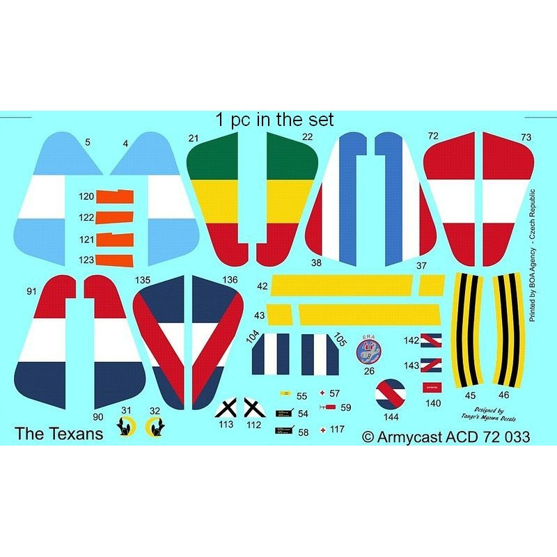 The Texans (T-6 Texan & Harvard in the world) - decal ARMYCAST ACD 72033 Acd-7248