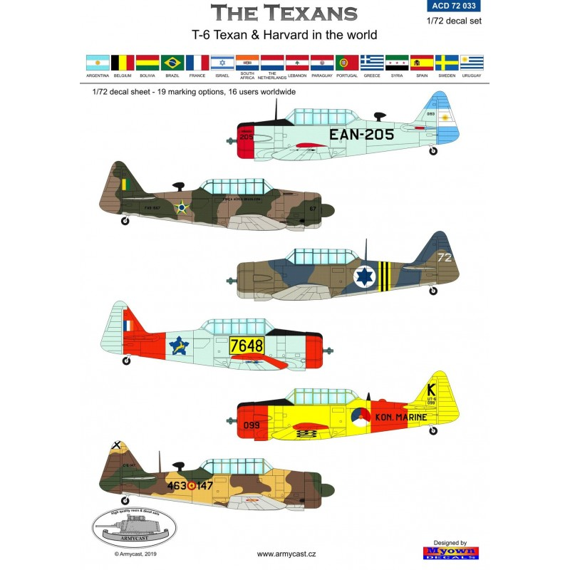 The Texans (T-6 Texan & Harvard in the world) - decal ARMYCAST ACD 72033 Acd-7249