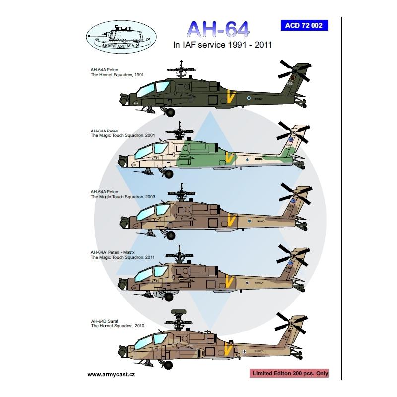 Israeli Apache - decal ARMYCAST ACD 72002 - 48008 Ah-64-10