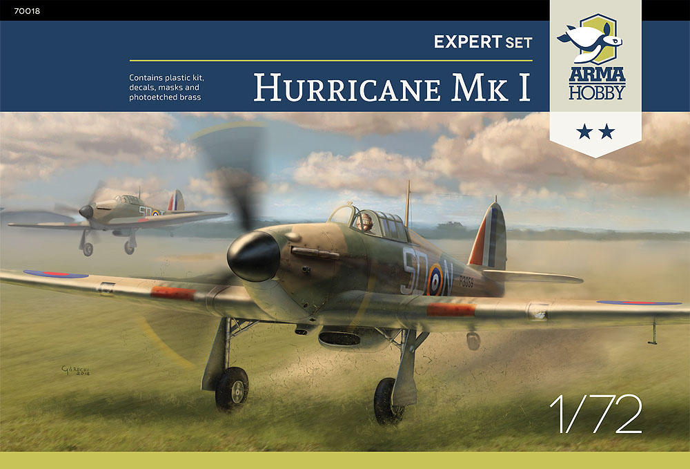 [ARMA HOBBY] Hurricane Mk I metal wing 1/72 -- 73sq Flight B James DENIS (FINI) Ah-70010