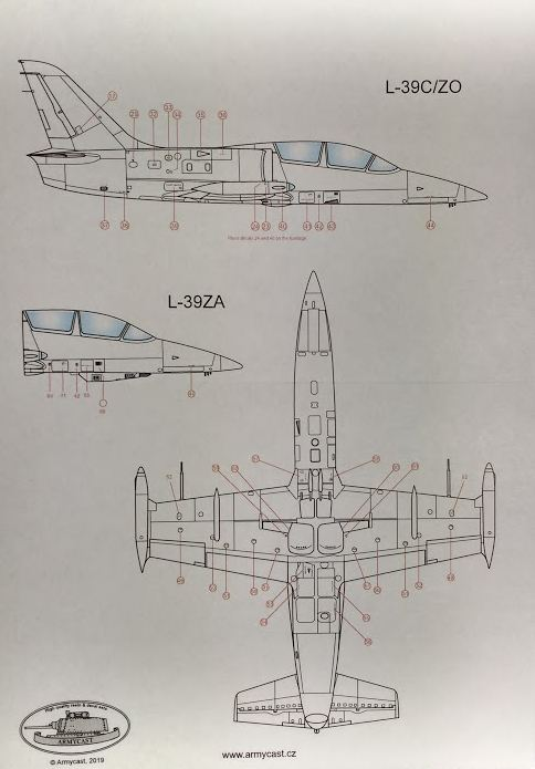 L-39C/ZO/ZA Albatros stencils - Décal ARMYCAST ACD 72030 + 48025 Img_2222
