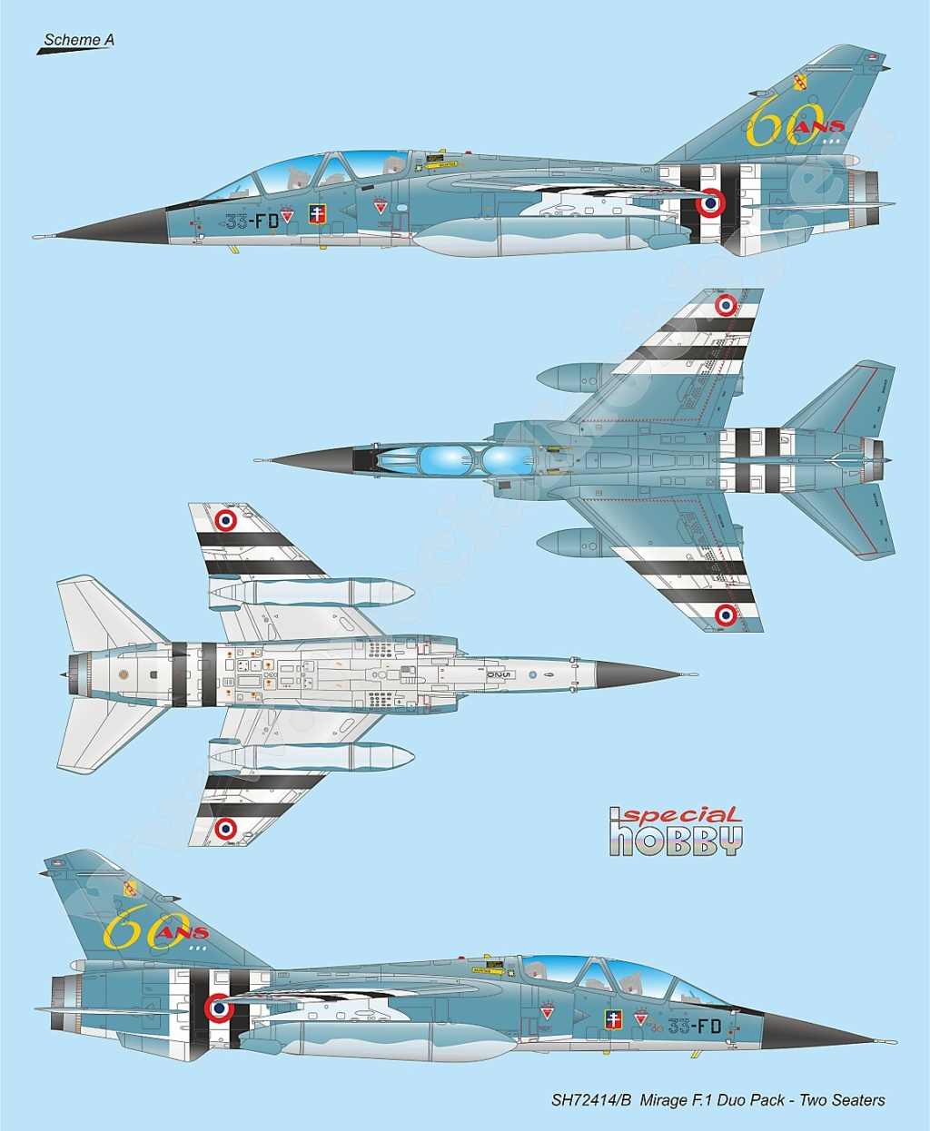 Boite combo Mirage F1 Special Hobby 72414 Sh724113