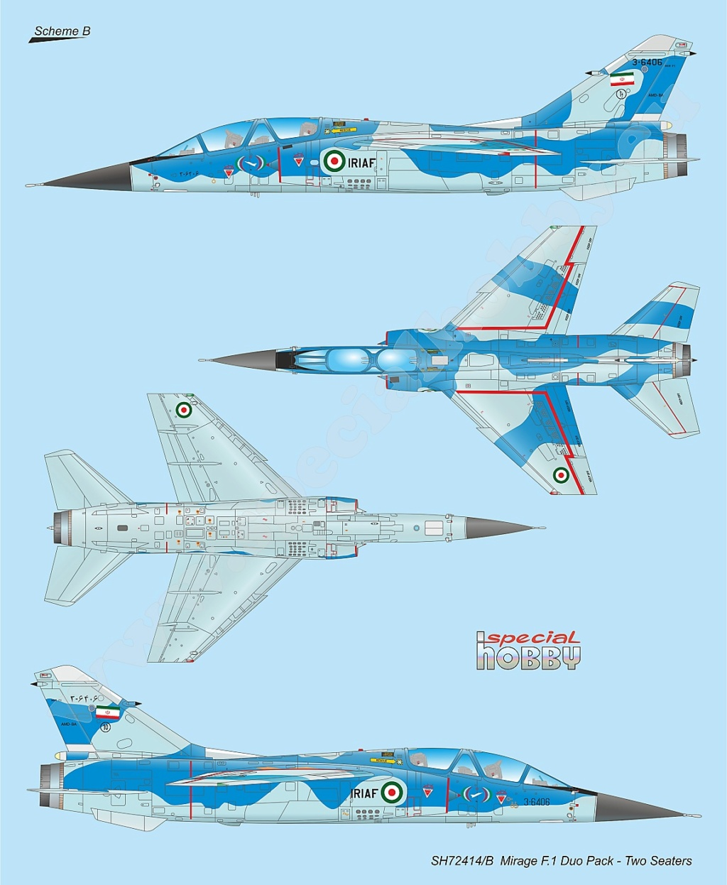 Boite combo Mirage F1 Special Hobby 72414 Sh724114