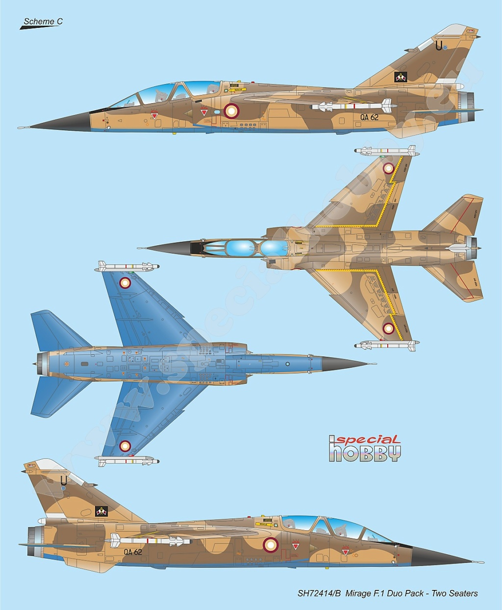 Boite combo Mirage F1 Special Hobby 72414 Sh724115