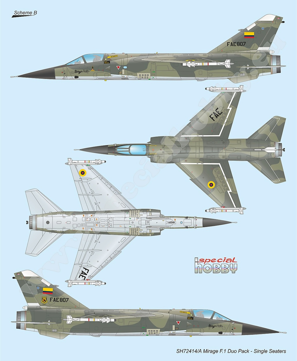 Boite combo Mirage F1 Special Hobby 72414 Sh724116