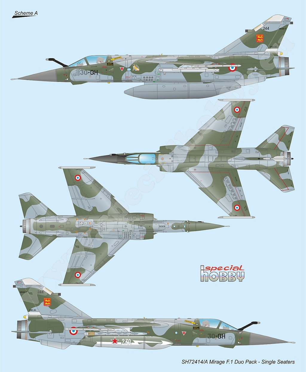 Boite combo Mirage F1 Special Hobby 72414 Sh724117